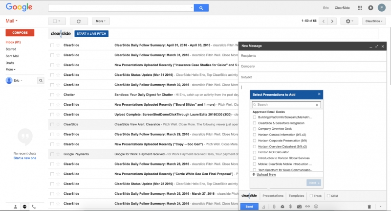 ClearSlide Debuts Gmail Plug-In